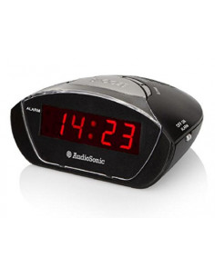 AUDIOSONIC CL-1458 Radio-réveil double buzzer Noir