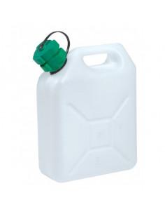 EDA Jerrican 5L Plastique Blanc avec bouchon verseur
