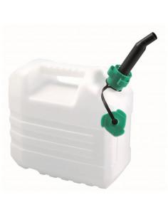 EDA Jerrican 10L Plastique Blanc avec bouchon verseur