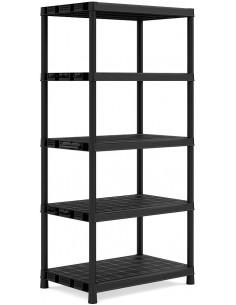 KIS Étagères PVC PLUS SHELF XL/5 60 x 90 x 187 cm Noir