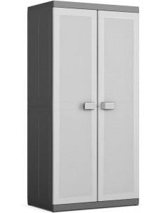 KIS Armoire haute XL LOGICO 89 x 54 x 182 cm Noir/Gris