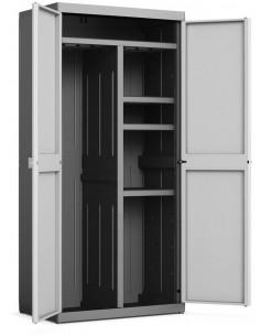 KIS Armoire range-balais XL LOGICO 89 x 54 x 182 cm Noir/Gris