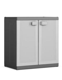 KIS Armoire basse XL LOGICO 89 x 54 x 93 cm Noir/Gris