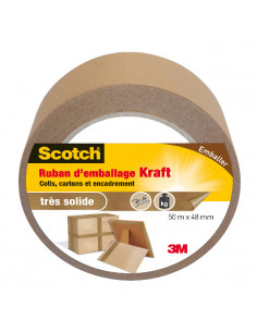 SCOTCH Ruban d'Emballage Kraft 50 m x 48 mm