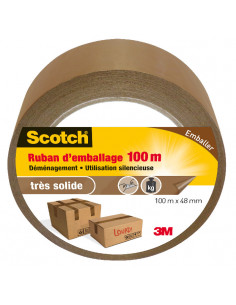SCOTCH Ruban d'Emballage Marron 100 m x 48 mm