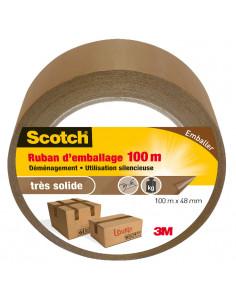 SCOTCH Ruban d'Emballage Marron 100 m x 48 mm