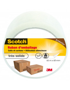 SCOTCH Ruban d'emballage transparent 66m x 48mm