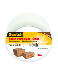 SCOTCH Ruban d'emballage transparent 100m x 48mm