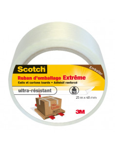 SCOTCH Ruban d'Emballage Extrême Transparent 25 m x 48 mm