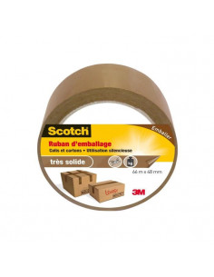 SCOTCH Ruban d'emballage marron 66m x 48mm