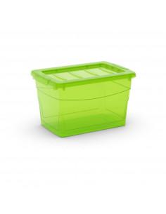 KIS Boîte de rangement plastique OMNI BOX S Vert Transparent 25,5 x 38,5 x 23,5 cm 16L