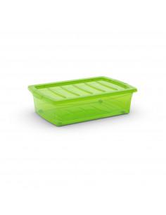 KIS Boîte de rangement plastique SPINNING BOX M Vert Transparent 39 x 58,5 x 16 cm 30L