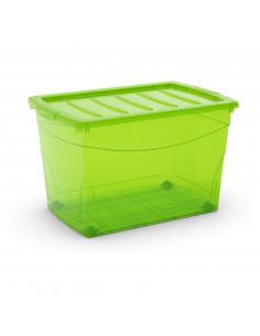 KIS Boîte de rangement plastique OMNI BOX XL Vert Transparent 39 x 58,5 x 36,5 cm 60L