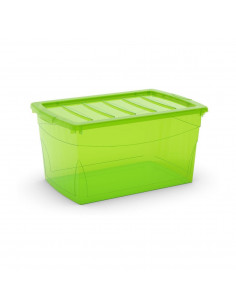 KIS Boîte de rangement plastique OMNI BOX L Vert Transparent 39 x 58,5 x 30 cm 50L