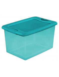 STERILITE Bac en plastique avec verrouillage vert transparent 61L