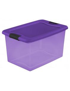 STERILITE Bac en plastique bleu transpartent 62 L