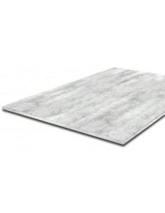 SUPBOIS Plateau mélaminé chêne blanc 120 x 80 cm 18mm