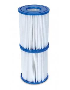 BESTWAY Lot de 2 cartouches pour filtre de piscine Type II