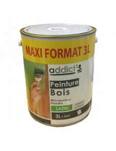 ADDICT Peinture à bois microporeux glycéro 3L blanc