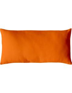 DECOSTAR Coussin uni non déhoussable orange 30 x 60 cm