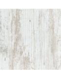 SUPBOIS Tablette d'aménagement mélaminée 18mm avec chants plaqué effet chêne blanchi 250 x 50 cm