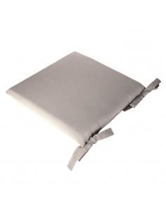DECOSTAR Galette de chaise en pur coton naturel 38 x 38 cm