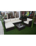 Ensemble salon de jardin 6 pcs