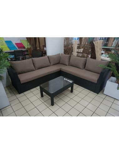 ensemble salon de jardin 1 canap d 39 angle 1 table 3 pcs hyper brico. Black Bedroom Furniture Sets. Home Design Ideas