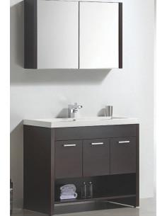 Ensemble de meubles de salle de bain avec vasque en céramique