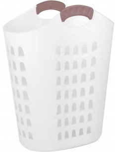 FORNORD Panier à linge blanc 48 x 35 x H. 60 cm