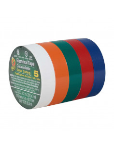 DUCK BRAND Tape Electricien x5 couleurs