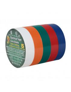 DUCK BRAND Tape Electricien x5 couleurs