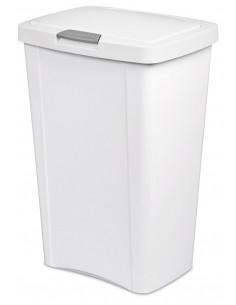 STERILITE Poubelle TouchTop™ Blanc 13 gallon 49 L