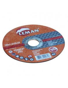 LEMAN Disque à tronçonner pour inox et acier Ø 125 x 1,6 mm