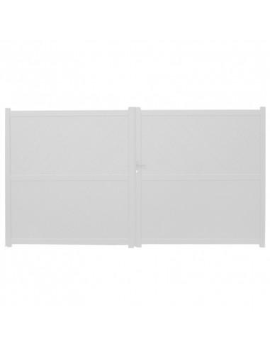 portail aluminium 2 battants 3500 x 1870 mm blanc hyper brico. Black Bedroom Furniture Sets. Home Design Ideas