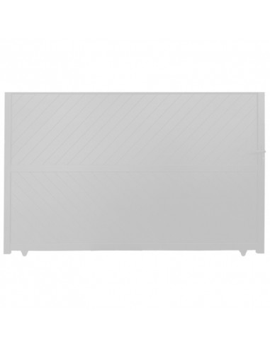 Portail Aluminium Coulissant 3000 x 1870 mm Blanc