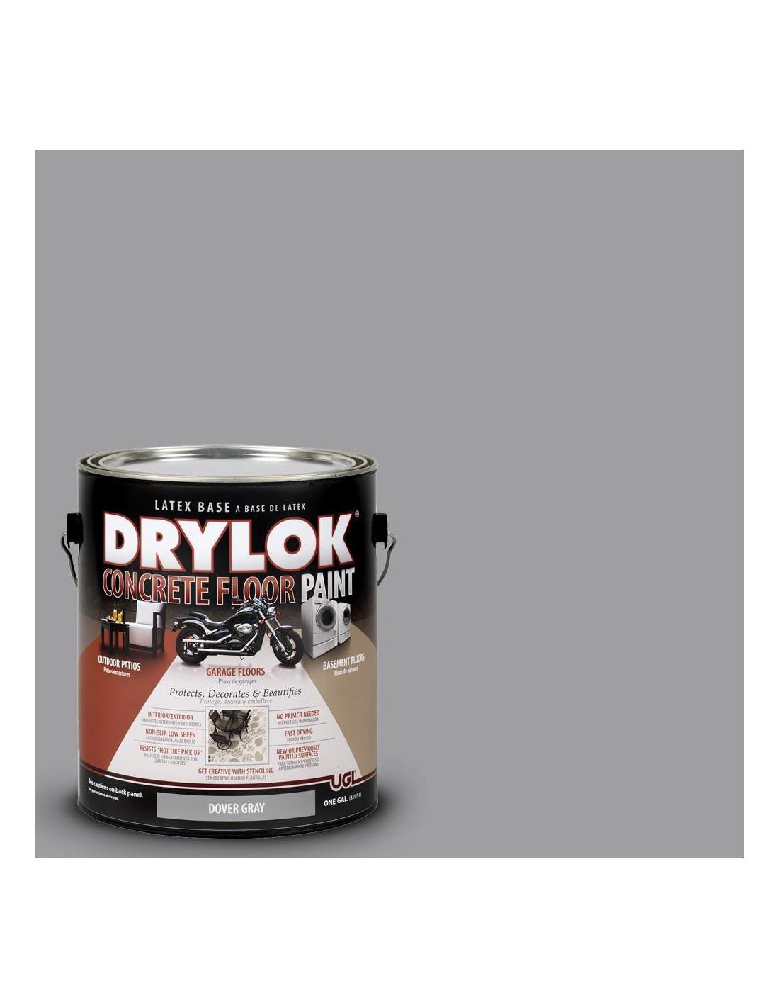 Peindre Fenetre Pvc En Gris drylok peinture de sol à base de latex gris dover 1 gal 3,78 l