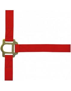 EKKIA Licol nylon pour poney rouge