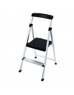 RUBBERMAID Marche pieds 2 marches STEP STOOL Aluminium