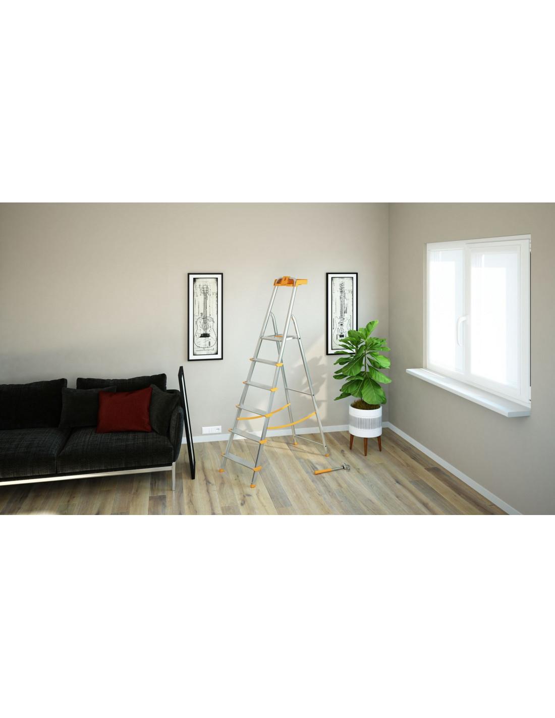 colombo escabeau attica 6 marches hyper brico. Black Bedroom Furniture Sets. Home Design Ideas