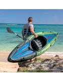 INTEX Set Kayak CHALLENGER K1 avec rame et gonfleur (1 place)