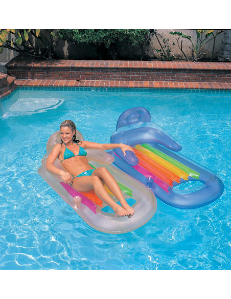 Intex Fauteuil De Piscine King Cool 2 Couleurs 160 X 85 Cm