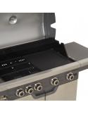 FIREPLUS Barbecue à gaz 4 feux + 1 métal