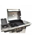 FIREPLUS Barbecue à gaz 3 feux + 1 métal