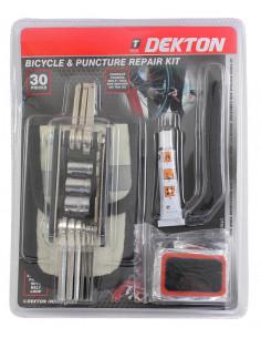 DEKTON Kit de réparation velo 30 pièces