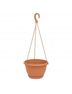 VECA Pot de fleur suspendu en plastique Terracotta Ø 25 cm