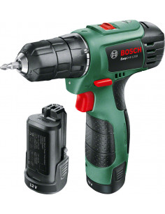 BOSCH EASYDRILL 1200 Perceuse visseuse à deux vitesses sans-fil Lithium-Ion 12V (2 batteries)