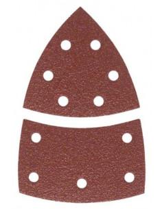 BOSCH Feuilles abrasives velcro pour ponceuse multi 102 x 62/93 mm 120 grain 11 trous