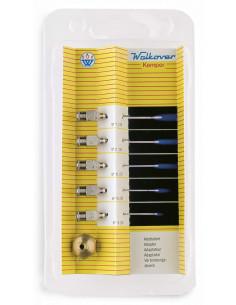 KEMPER Set de 5 pointes micro en acier inoxydable