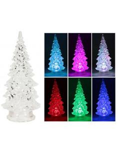FOMAX Sapin acrylique LED couleurs assorties h.22 cm